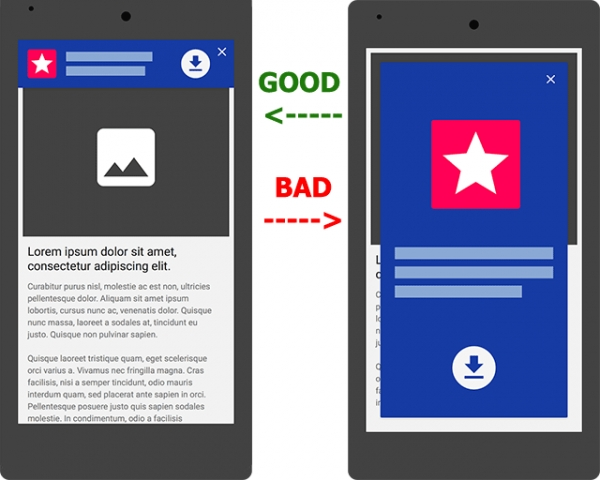 Google's latest ranking signal; App Interstitials